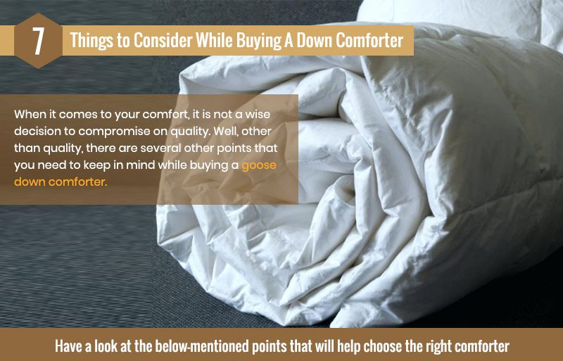 7 Things To Consider While Buying A Down Comforter